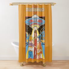 Alien Abduction Club Shower Curtain