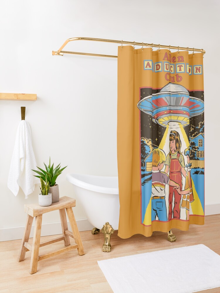 Alternate view of Alien Abduction Club Shower Curtain