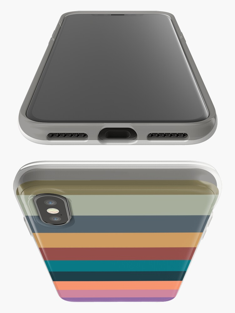 Alternate view of color stripes in colorful pastel iPhone Case & Cover