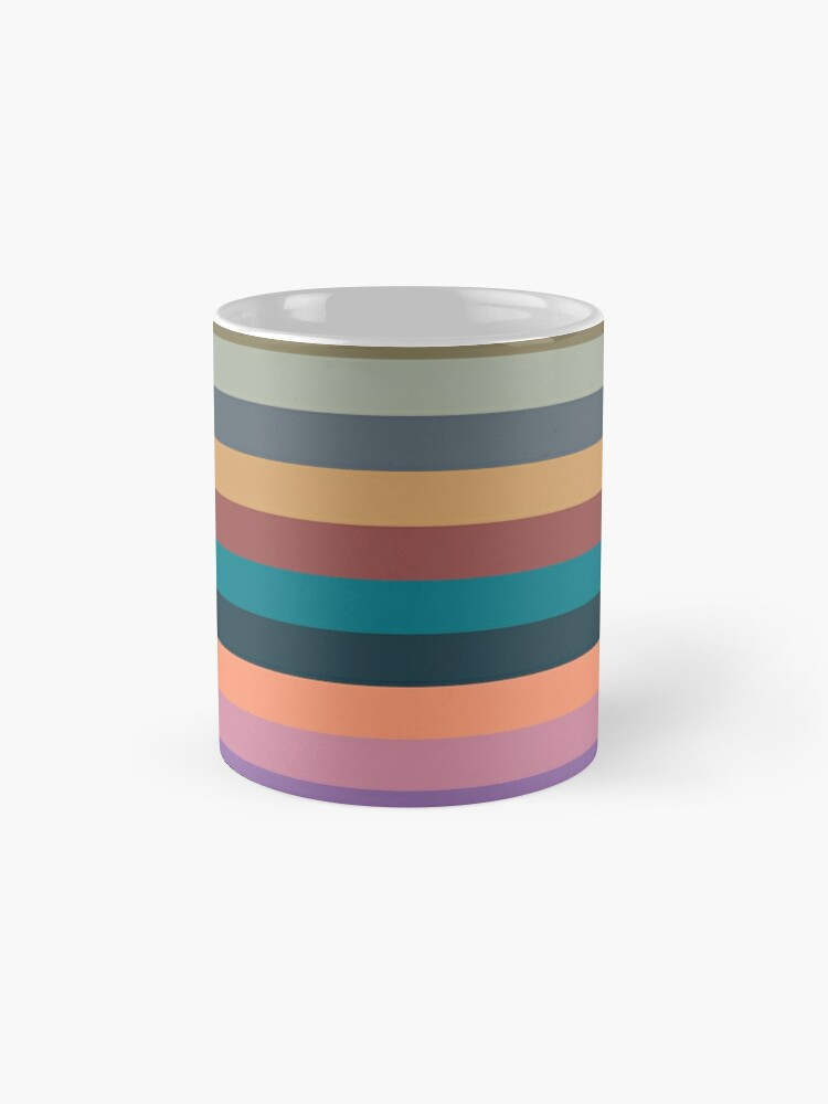Alternate view of color stripes in colorful pastel Mug