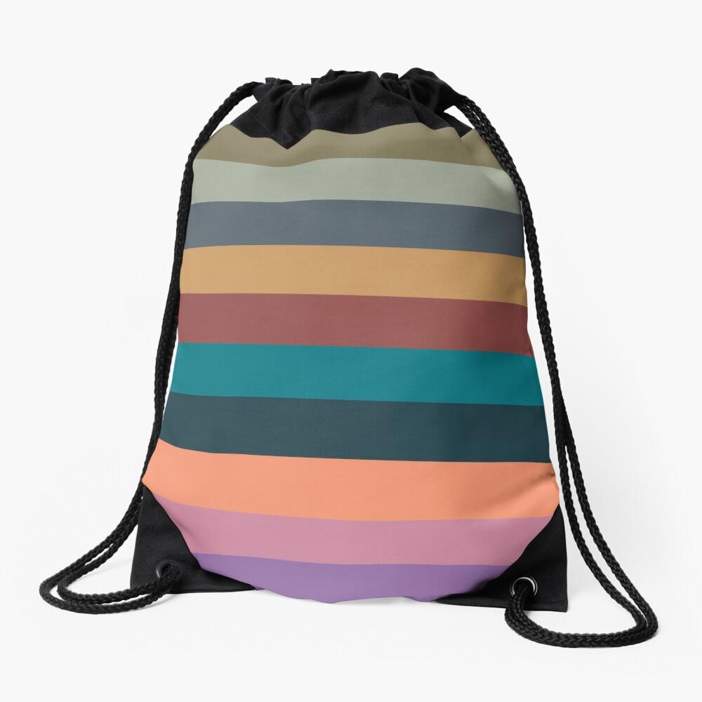 color stripes in colorful pastel Drawstring Bag