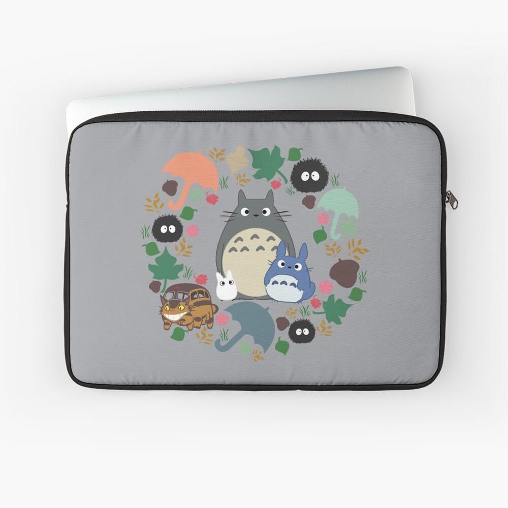 Mein Nachbar Totoro Kranz - Anime, Catbus, Ruß Sprite, Blau Totoro, Weiß Totoro, Senf, Ocker, Regenschirm, Manga, Hayao Miyazaki, Studio Ghibl Laptoptasche