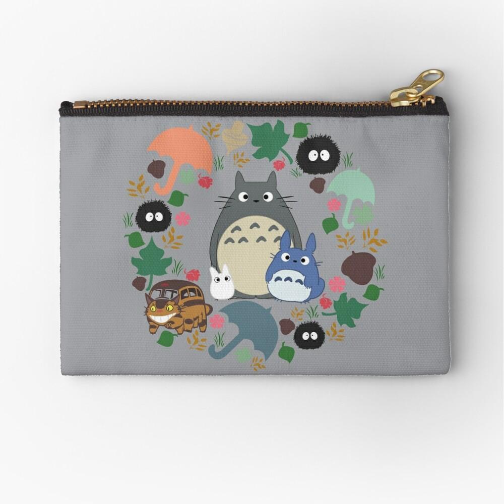 Mein Nachbar Totoro Kranz - Anime, Catbus, Ruß Sprite, Blau Totoro, Weiß Totoro, Senf, Ocker, Regenschirm, Manga, Hayao Miyazaki, Studio Ghibl Täschchen