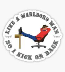 Marlboro Man Stickers | Redbubble