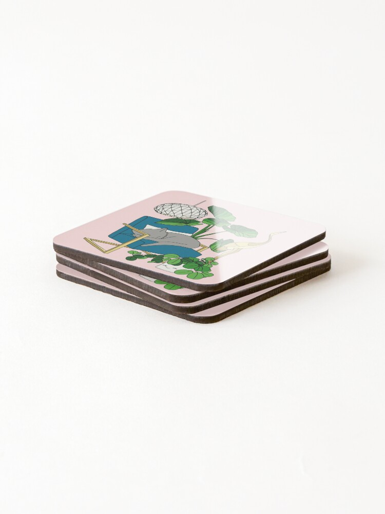 Alternate view of Cat nap by Elebea Coasters (Set of 4)