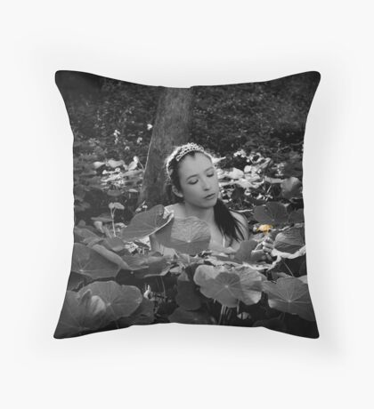 Garden Princess Throw Pillow