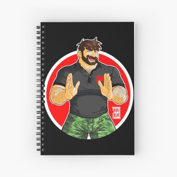ADAM - BIG BOY (BLACK POLO) Spiral Notebook