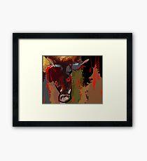 Blood shedding animal Framed Print