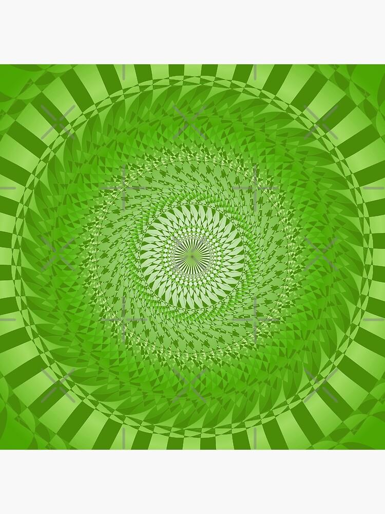 Grüne Sonnenmandala von pASob-dESIGN