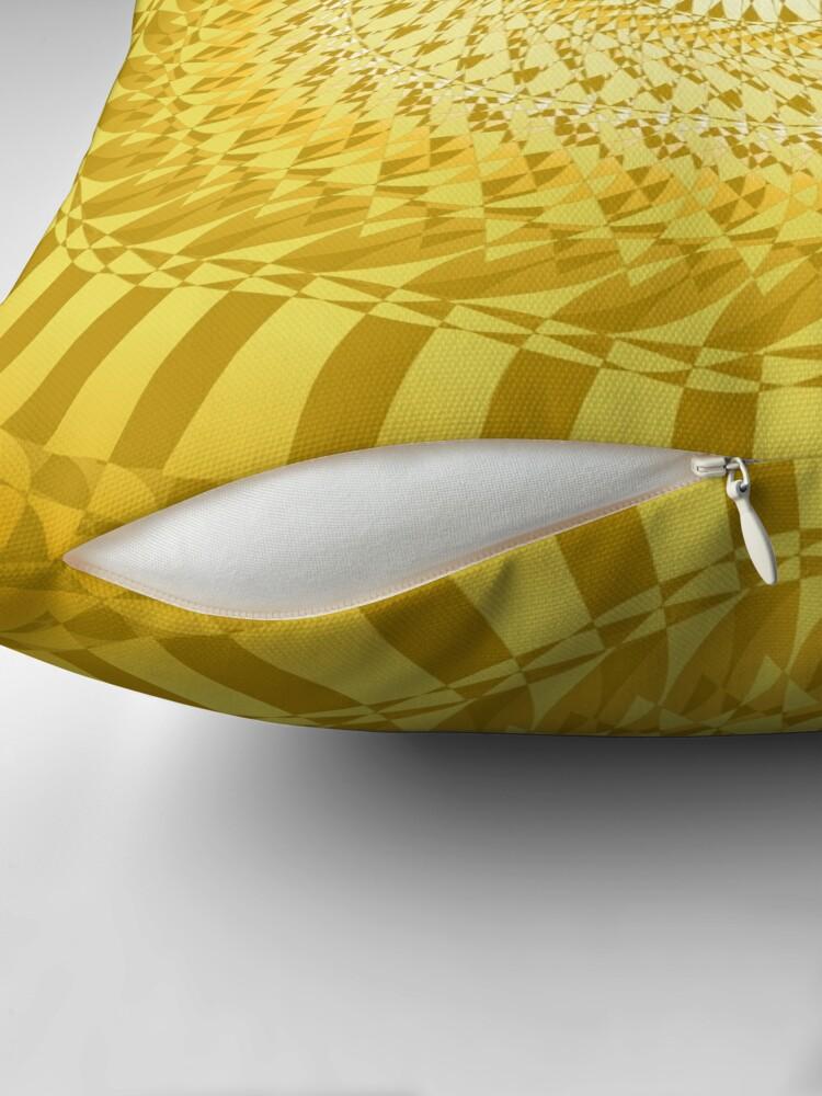 Alternative Ansicht von Sun Mandala Gelb Dekokissen