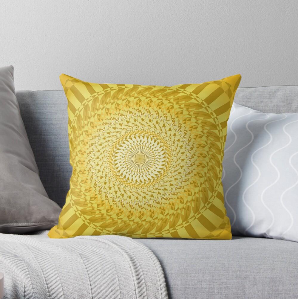 Sun Mandala Gelb Dekokissen