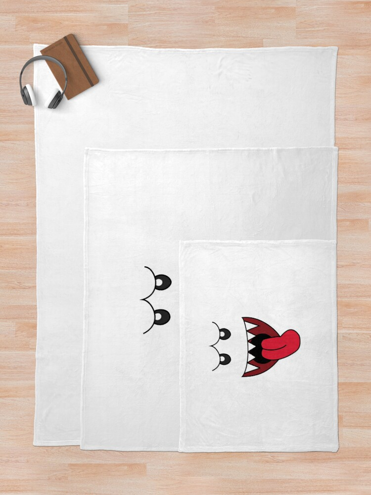 Alternate view of boo Throw Blanket