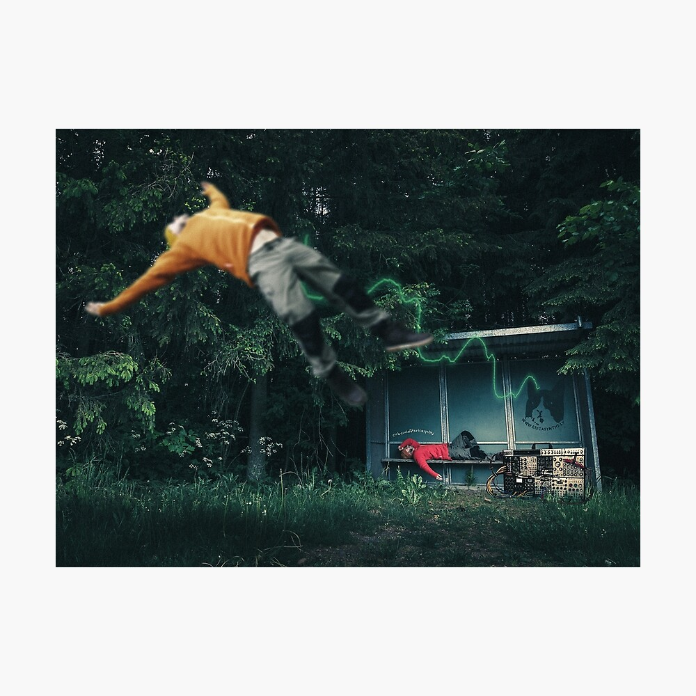 Sub Sonic Forest Bus Stop Photographic Print