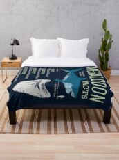 Megalodon Facts Throw Blanket