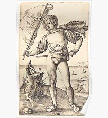 Albrecht Dürer or Durer Standard Bearer Poster
