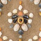 Shell Mosaic - Orange by ShorelineSally