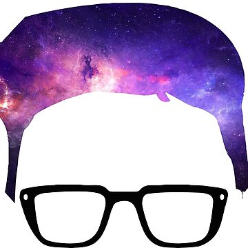 Tyler Oakley Cartoon - Galaxy Hair by MBroadbridgee