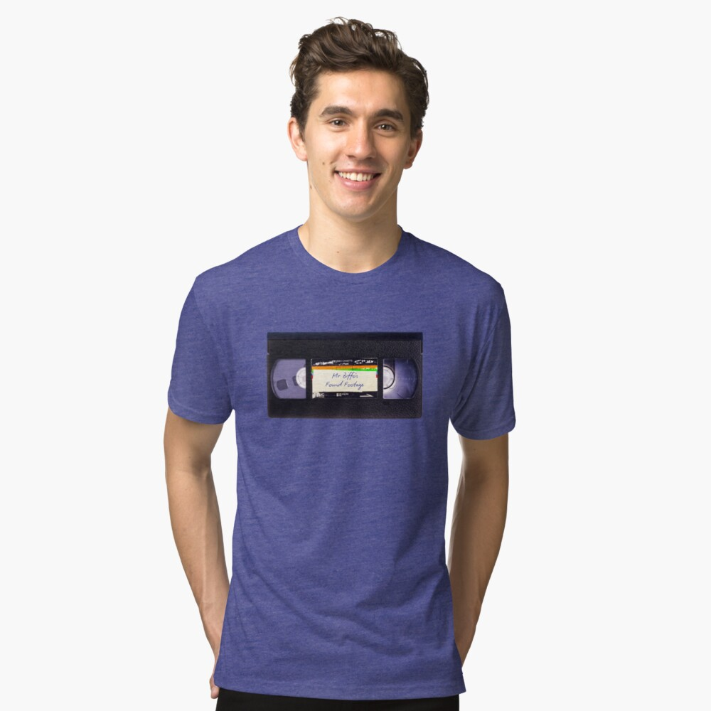Mr Biffo's VHS Tape Tri-blend T-Shirt