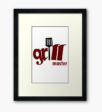 Grill master geek funny nerd Framed Print