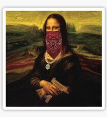 Thug Life Mona Lisa Sticker