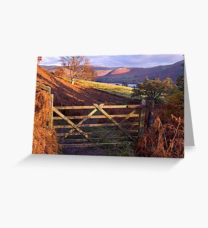 Near Ullswater - The Lake District Greeting Card