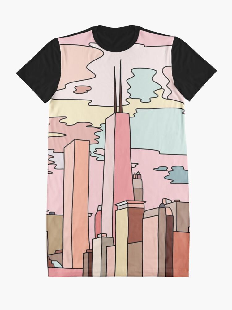Alternate view of Chicago sunset by Sasa Elebea Graphic T-Shirt Dress