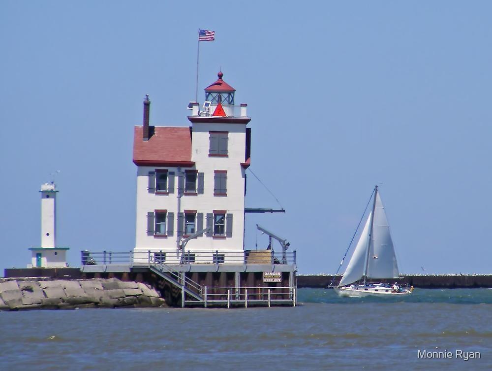 Lorain Lighthouse by Monnie Ryan