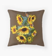 Yellow Sunflowers for Wisdom, Harmony   Throw Pillow