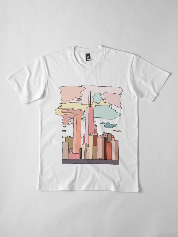 Alternate view of Chicago sunset by Sasa Elebea Premium T-Shirt