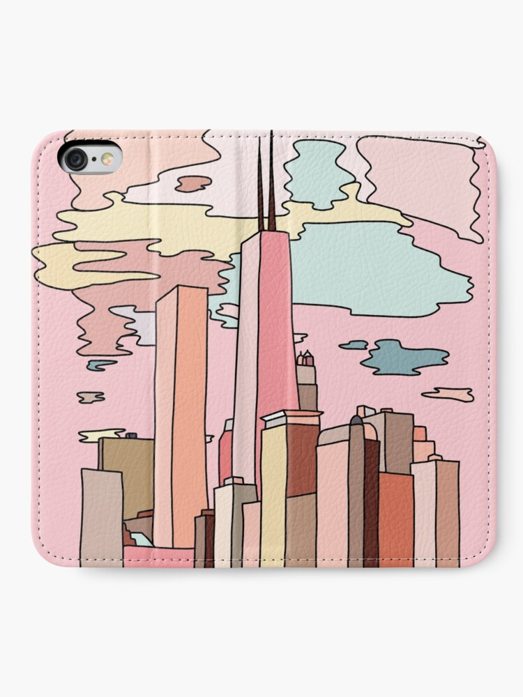 Alternate view of Chicago sunset by Sasa Elebea iPhone Wallet