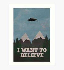 X-Files Twin Peaks mashup v2 Art Print