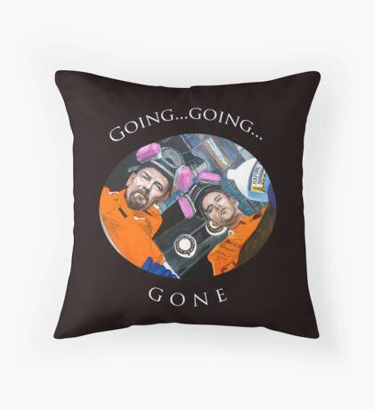 Going, Going, GONE Throw Pillow