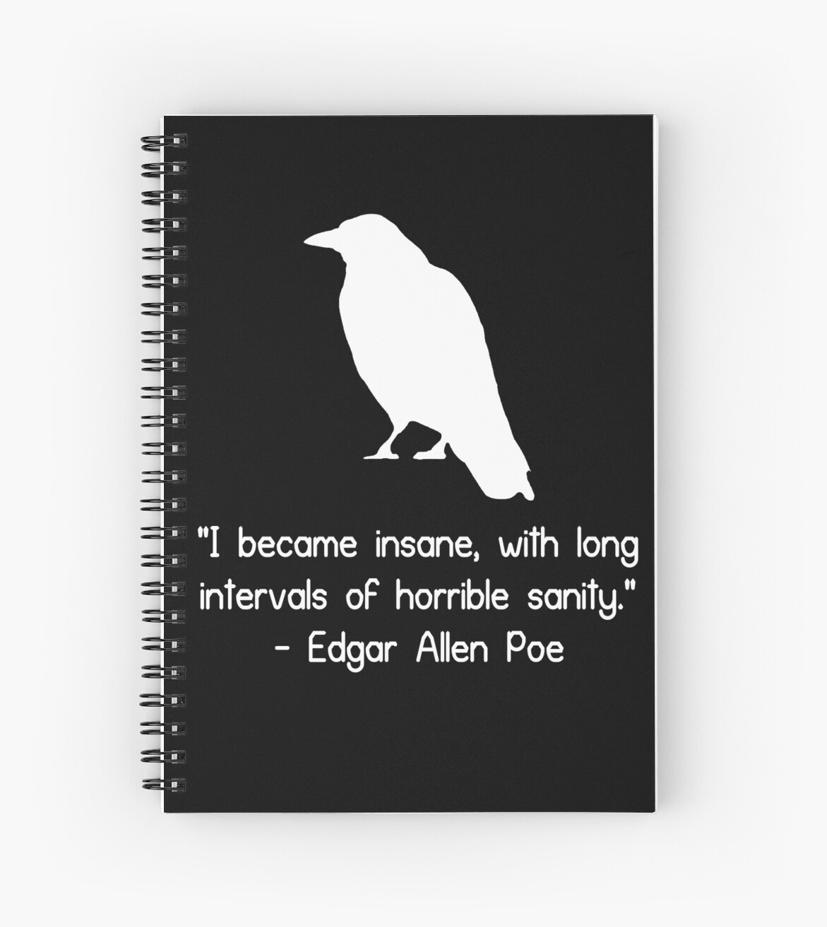 i became insane edgar allen poe quote geek funny nerd spiral i became insane edgar allen poe quote geek funny nerd