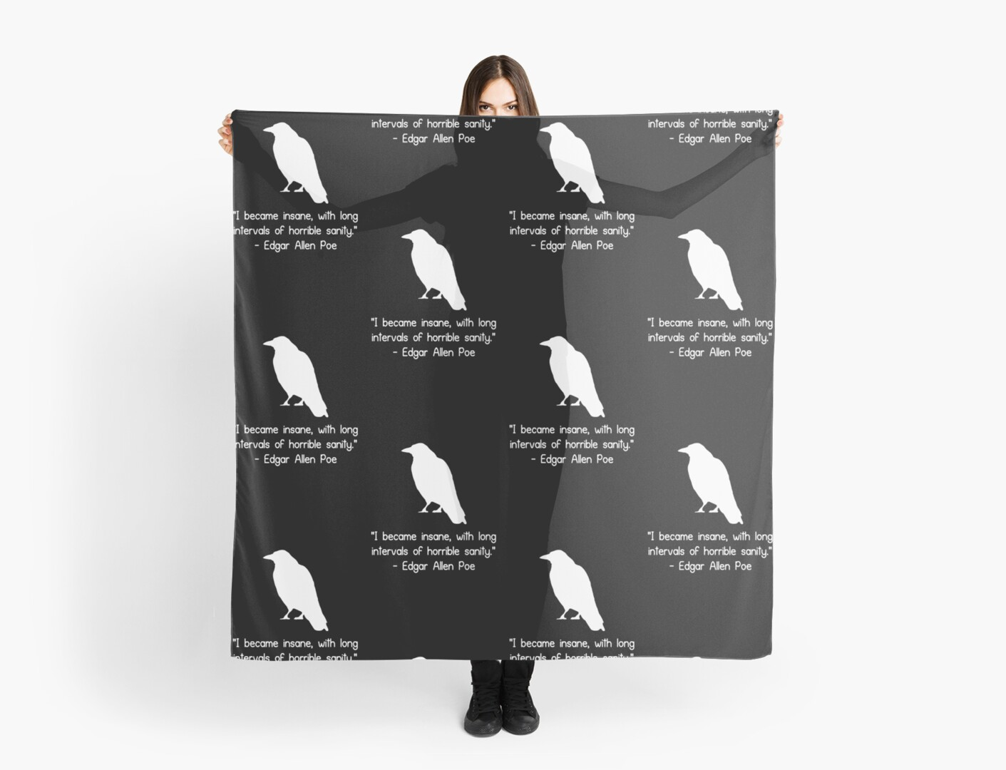 i became insane edgar allen poe quote geek funny nerd scarves by i became insane edgar allen poe quote geek funny nerd