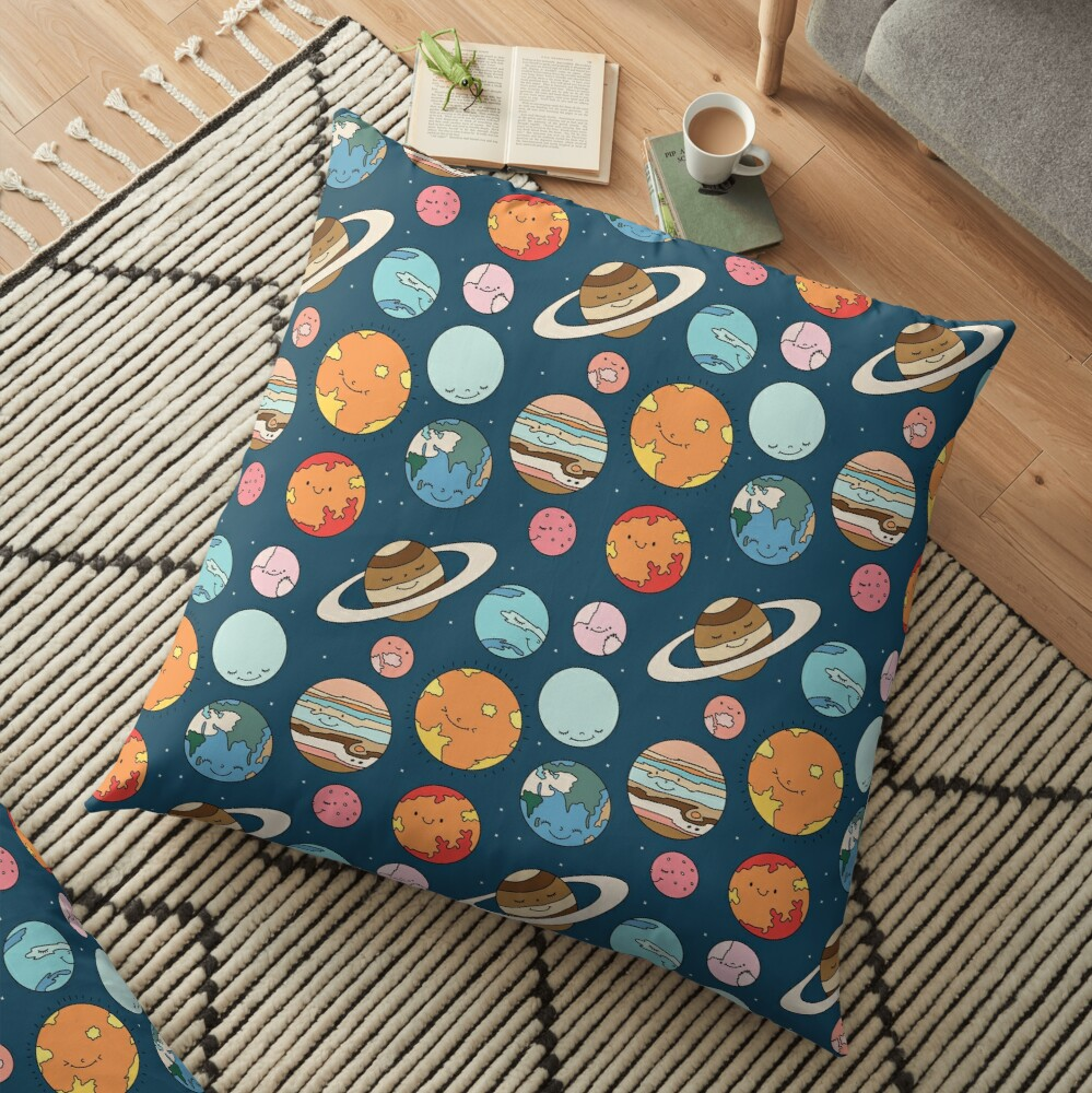 Cosmos by Elebea Floor Pillow