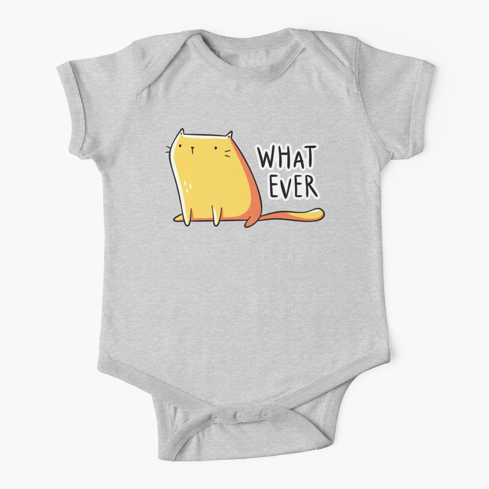 Whatever Cat Baby One-Piece