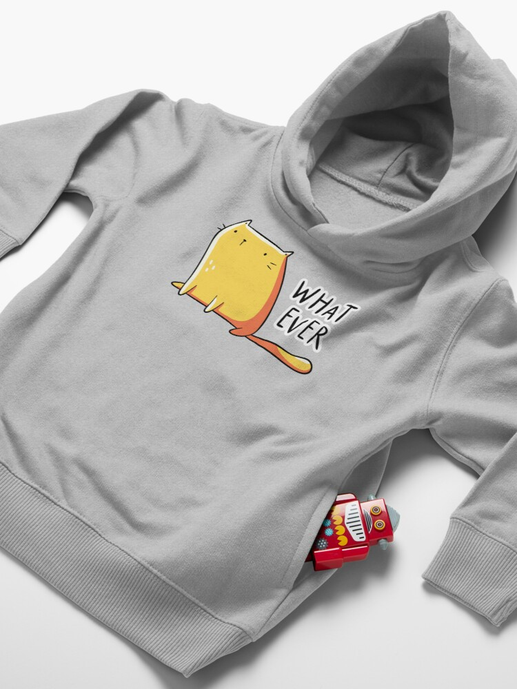 Alternate view of Whatever Cat Toddler Pullover Hoodie