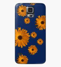 Orange power flower Case/Skin for Samsung Galaxy