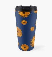 Orange power flower Travel Mug