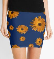 Orange power flower Mini Skirt