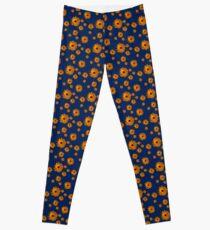 Orange power flower Leggings