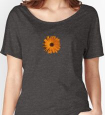 Orange power flower Relaxed Fit T-Shirt