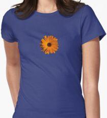 Orange power flower Fitted T-Shirt