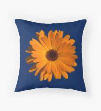 Orange power flower Throw Pillow