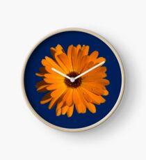 Orange power flower Clock