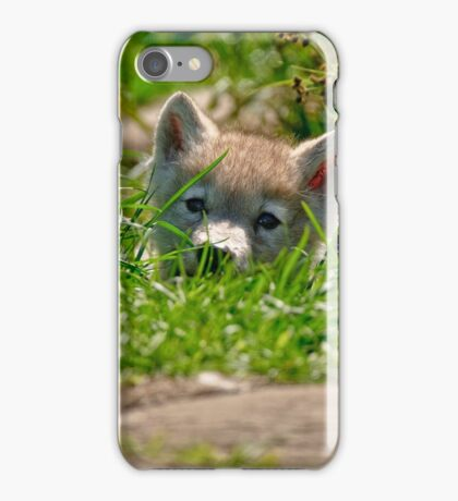 Who Me?? Arctic Wolf Pup iPhone Case/Skin