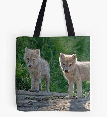 Arctic Wolf Pups  Tote Bag