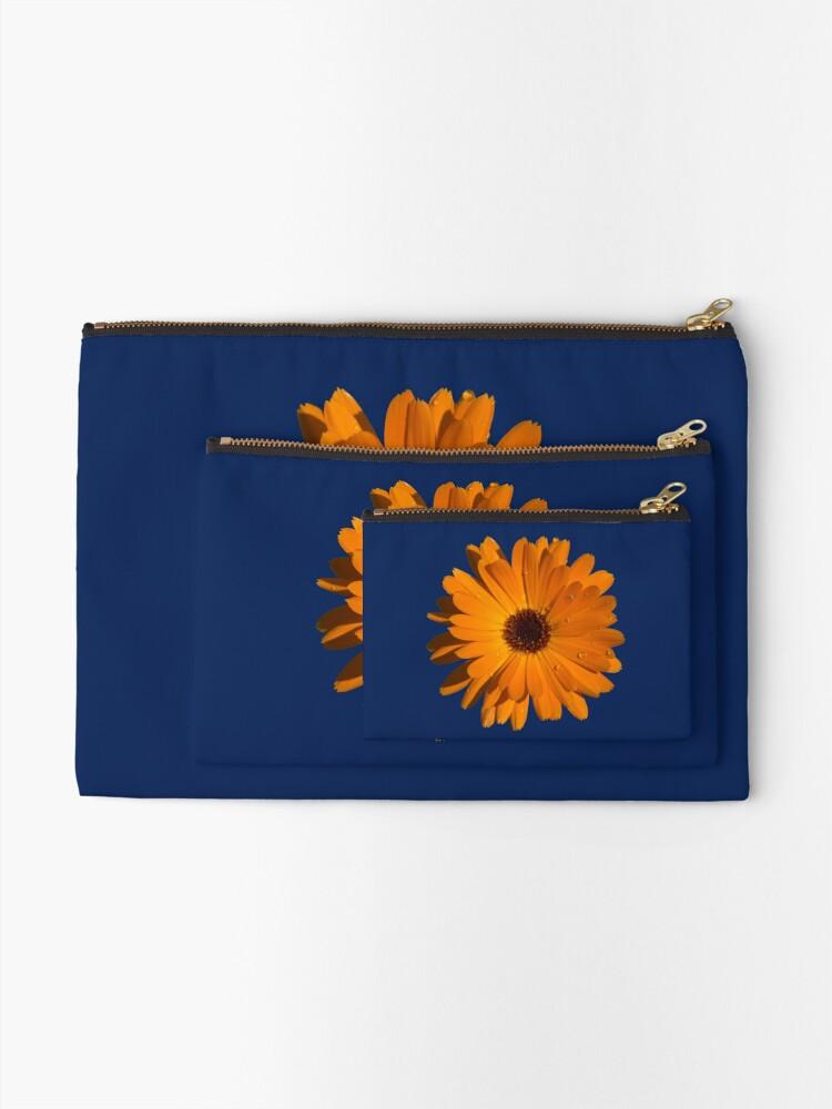 Alternate view of Orange power flower Zipper Pouch
