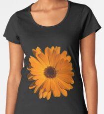 Orange power flower Premium Scoop T-Shirt