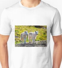 Pair of Arctic Wolves - Montebello, Quebec  Unisex T-Shirt